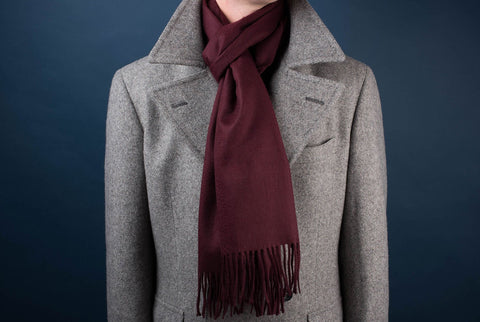 Johnstons of Elgin Cashmere Scarf - Wine