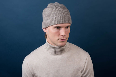 Johnstons of Elgin Cashmere Knit Cap - Fawn