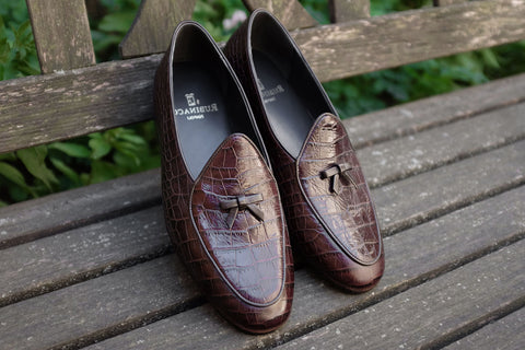 Rubinacci Marphy Loafer - Printed Faux Alligator