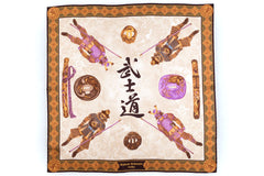 Rubinacci Pocket Square - Samurai Chocolate