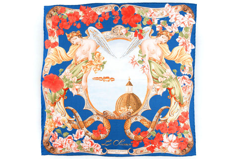 Rubinacci Pocket Square - Sirenuse Royal Blue