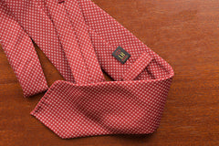 Rubinacci Tie - Silk Red Micro Check