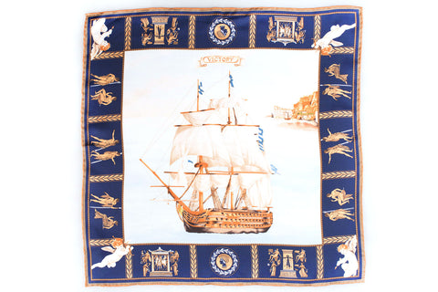 Rubinacci Pocket Square - Victory Navy
