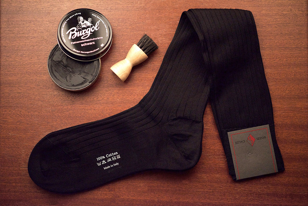 Sozzi  Cotton Socks - Black
