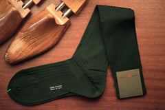 Sozzi Cotton Socks - Forest Green