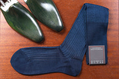 Sozzi Cotton Socks - Blue Two Tone