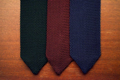 Sozzi Tie - Knitted Navy