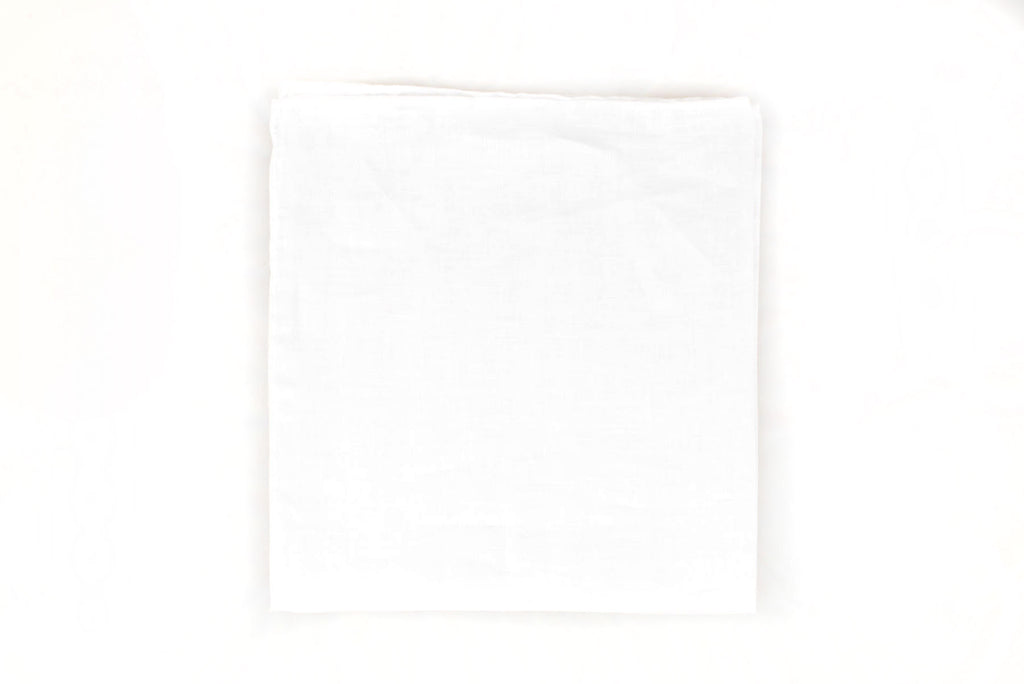 Sozzi Pocket Square - Linen White