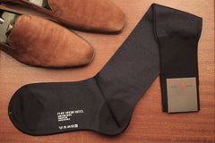 Sozzi Wool Socks - Navy Birdseye