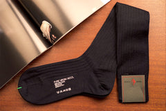 Sozzi Wool Socks - Deep Navy