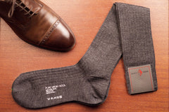 Sozzi Wool Socks - Steel Grey