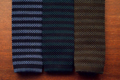 Sozzi Tie - Wool Chocolate & Grey