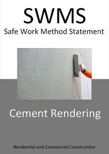 Cement Rendering (solid plastering) SWMS