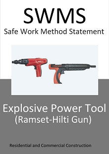 Explosive Power Tools (Ramset-Hilti Guns) - SWMS