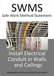 Install Electrical Conduit in Walls and Ceilings - SWMS - Construction Safety Wise