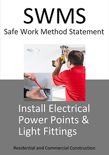 Install Electrical Power Points & Light Fittings SWMS
