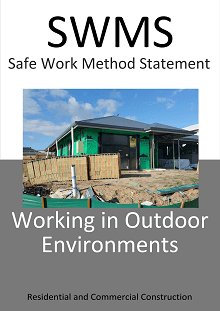 Working in Outdoor Environments SWMS - Construction Safety Wise