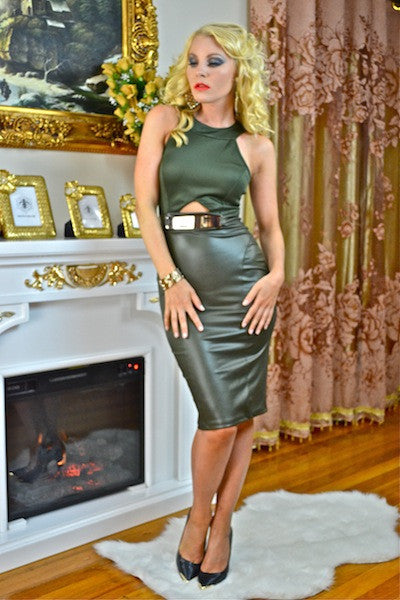 ISABELLA DRESS IN OLIVE - voguish girl