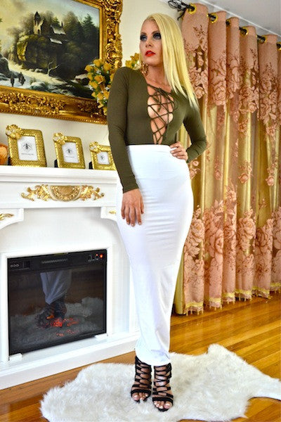 ALL THE WAY MAXI SKIRT IN  WHITE - voguish girl