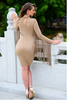 LISA DRESS IN CAMEL - voguish girl