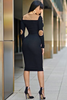 MISS SHANNAE DRESS IN BLACK - voguish girl