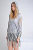 JARQUARD KNIT SWEATER IN GRAY - voguish girl