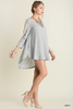 LIZY TOP/DRESS IN GRAY - voguish girl
