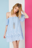 ANDREA DRESS IN SKY BLUE - voguish girl