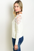 PENNY PATCHED SWEATER IN IVORY - voguish girl