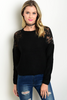 PENNY PATCHED SWEATER IN BLACK - voguish girl