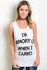 """WHEN I CARED"" SLOGAN TOP - voguish girl"