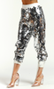 Sequin Jogger Pants in Silver - voguish girl