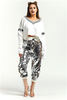 Sequin Jogger Pants in Silver