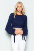 """MARLINE"" CROP TOP IN NAVY BLUE"