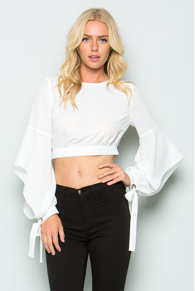 """MARLINE"" CROP TOP IN WHITE"