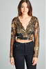 """NADINE"" EMBELLISHED CROP TOP IN BLACK & GOLD - voguish girl"