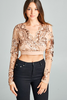 """NADINE"" EMBELLISHED CROP TOP IN ROSE GOLD - voguish girl"