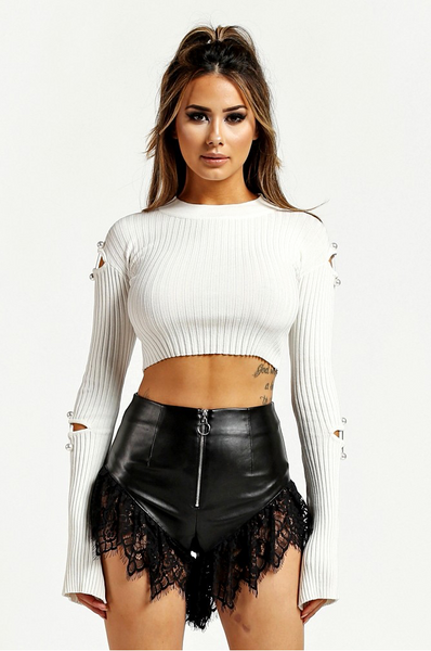 Faux leather shorts - voguish girl