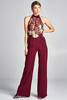 """KIARA"" JUMPSUIT IN BURGUNDY"
