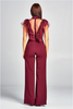 """ALICE"" RUFFLED DETAILED JUMPSUIT IN BURGUNDY - voguish girl"