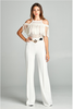 """LATIN GIRL"" CROCHET JUMPSUIT IN WHITE"