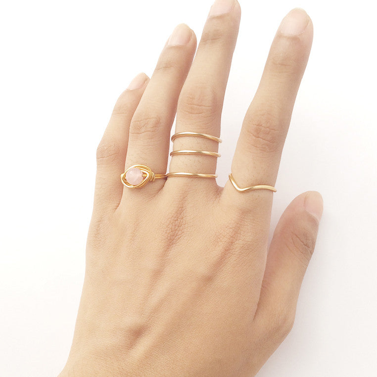 Juliet Wire Ring Set (Available in other colors)