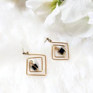Square Wire Drop Earrings