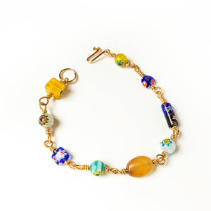Assorted Murano Wire Wrapped Bracelet