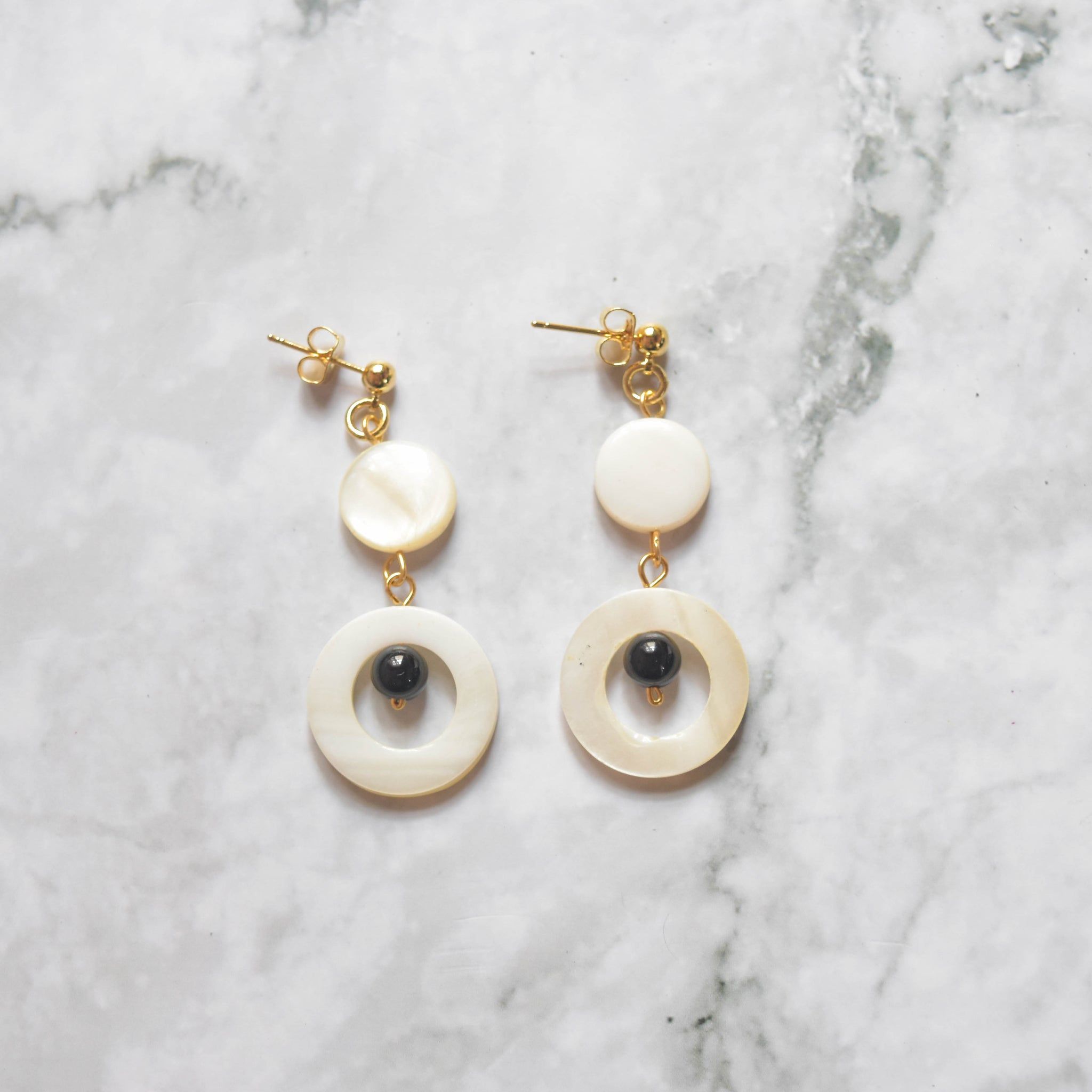 Shell Drop Earrings