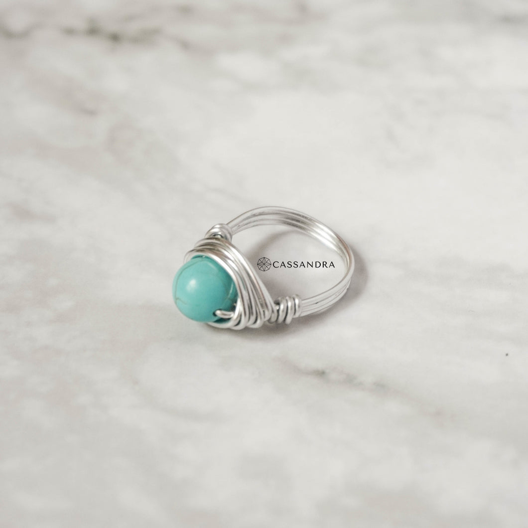 Silver Wire Ring (Turquoise)