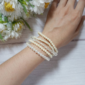 Pearl and Crystal Bracelet Stack