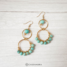 Load image into Gallery viewer, Aberdeen Turquoise Earrings