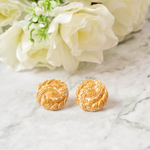 Gold Leaf Clay Earrings