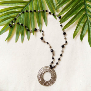 Black & Silver Gypsy Necklace